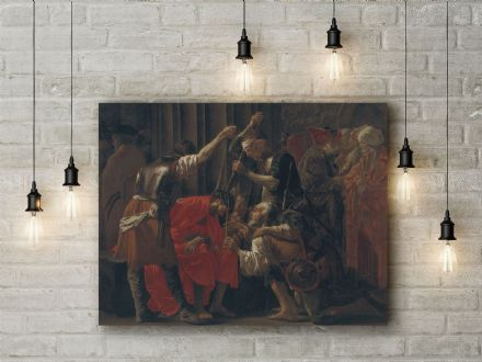 Hendrick Ter Brugghen: Christ Crowned with Thorns. Fine Art Canvas.